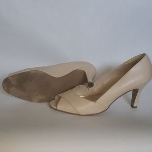 Chadwicks Shoes - CHADWICK'S leather open toe pumps